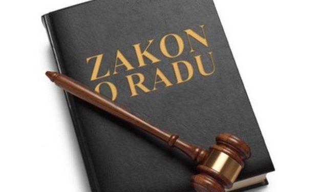 Отворено писмо -Usvajanje Prijedloga Zakona o radu po hitnom postupku