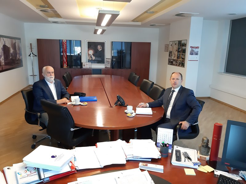 Предсједник Мићановић на радном састанку са директором Луком Петровићем